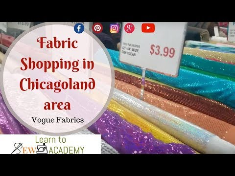 Fabric Shopping in Chicagoland Area - Vogue Fabrics in Evanston, IL