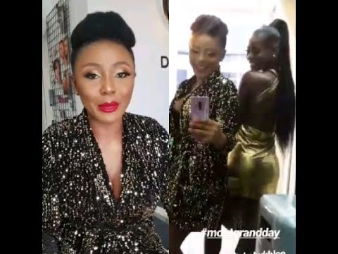 IFU ENNADA  AND KHLOE AT THE MOET GRAND PARTY