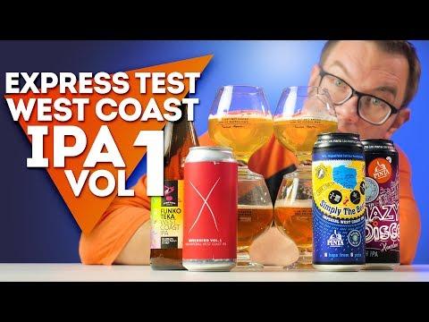 Express Test West Coast IPA vol. 1 - Nevermind, Funkoteka, Hazy Disco Haarlem i Simply the Best