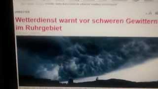 preview picture of video '11.7.2014 Voerde NRW oft Unwetter Falsch Warnungen Wo war Hagel Starkregen Gewitter?'