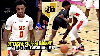 Bronny James Puts The CLAMPS ON & TURNS UP On BOTH ENDS Of The Floor at EYBL!! SFG vs Indy Heat!