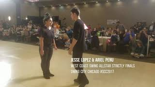 Jesse Lopez & Ariel Penu / West Coast Swing Allstar Strictly Finals  Swing City Chicago #SCC2017