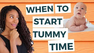When You Should REALLY Start Tummy Time