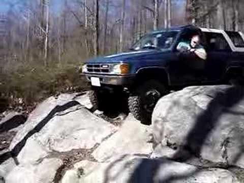 4Runner Coming Down a Steep Rock at Crozet Virginia 01-06-07