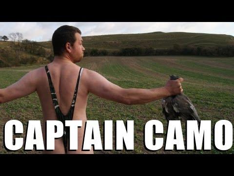 Shooting in a camo mankini