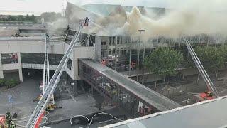 Brand Der Mainzer Rheingoldhalle