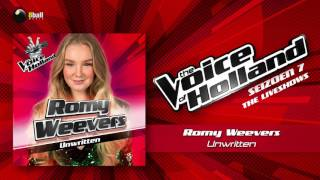Romy Weevers  Unwritten The Voice Of Holland 2016/2017 Liveshow 1 Audio