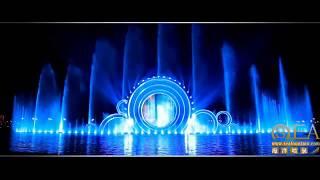 Dubai Fountain In China  Hunan Changsha Wangchen City  Water  Show