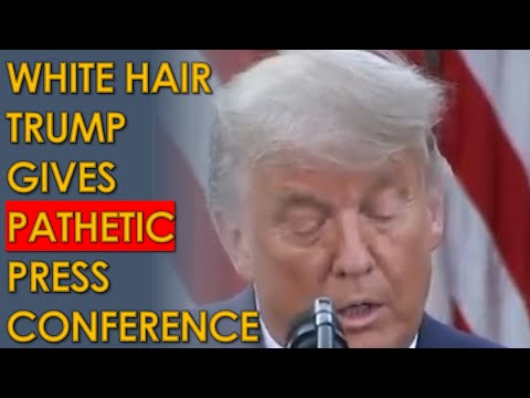 Grey Hair Trump ALMOST admits he lost to Joe Biden in PATHETIC Rose Garden Press Conference