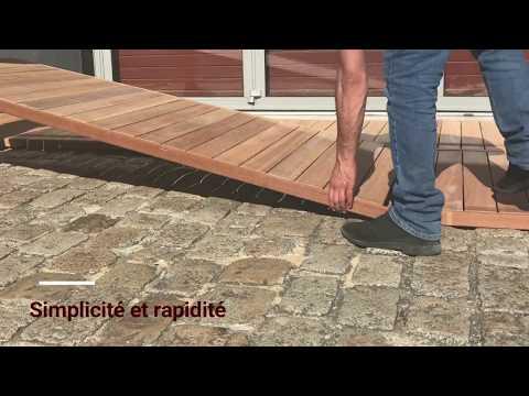 Terrasse bois - la pose de caillebotis - TEKABOIS