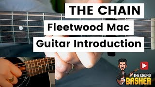 The Chain Fleetwood Mac Guitar Tutorial // The Chain Guitar Chords Intro // How To Play The Chain
