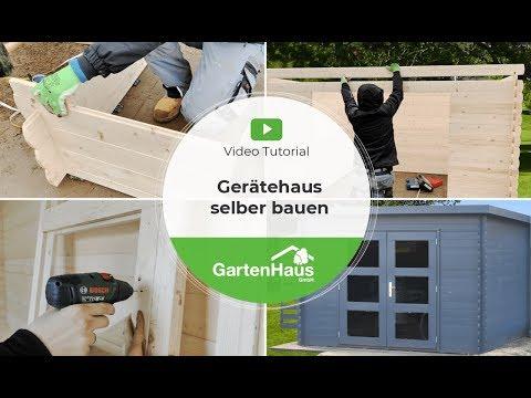 Geräteschuppen selber bauen: Video Anleitung für Gerätehaus aus Holz