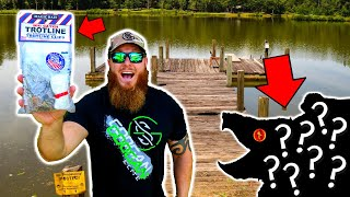 Bank-Line Fishing For DEEP Pond Monsters (DANGEROUS Fish Catch!!)