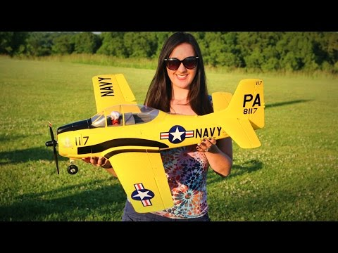 T-28 Trojan 1100mm 43″ Warbird Eleven Hobby RC Plane REVIEW – TheRcSaylors