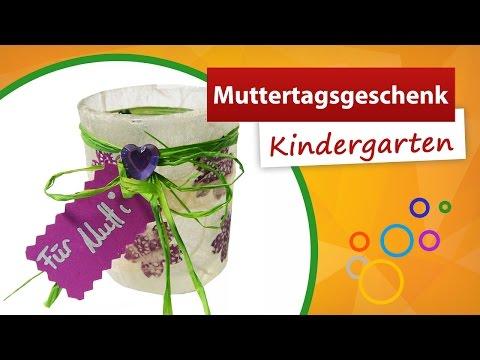 Teelichtglas basteln als Muttertagsgeschenk | trendmarkt24 - Muttertagsgeschenk Kindergarten