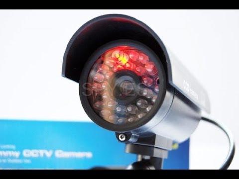 CCTV Cámara simulada de seguridad con diodo LED - SPY.ES