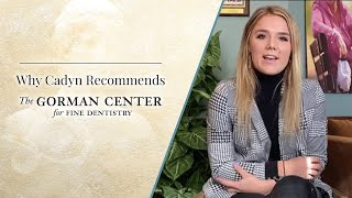 Video preview of a dental video about Cadyn, Dr. Gorman's actual cosmetic dentistry patient