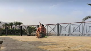 Yoga Demo at Dead Sea