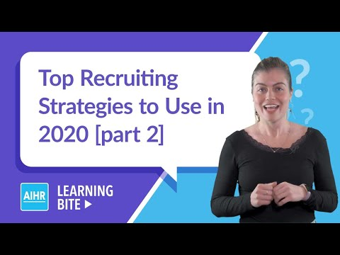 Top Recruiting Strategies to Use in 2020 [p. 2] | AIHR Learning Bite ...