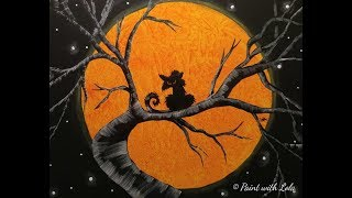 Step By Step Halloween Art On Canvas