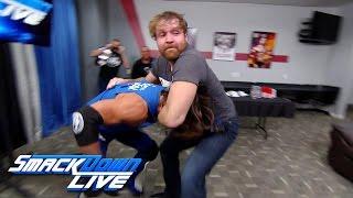 Dean Ambrose gets into a backstage brawl with AJ Styles: SmackDown LIVE, Nov. 29, 2016