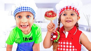 Diana and Roma - funny stories for kids about Food | English fairy tales