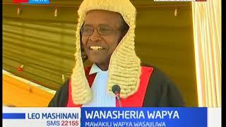 Jaji mkuu David Maraga aongoza shughuli ya kusajili mawakili wapya