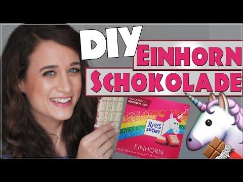 DIY Einhorn Schokolade ✮ Rittersport Schokolade selbst gemacht ♥