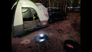 Camping with Napier suv tent | Riverbend Okotoks
