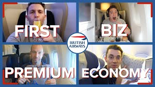 Reviewing Four Classes On The Same British Airways Flight | First, Business, Premium & Economy