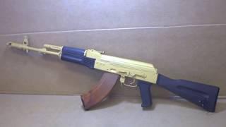 Arsenal Saiga SGL-21 AKM with Gold Cerakote & Plum Furniture