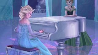 """как играть """"отпусти и забудь""""  (Frozen) на пианино"""