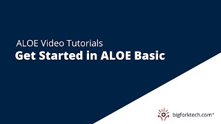 ALOE Basic Overview