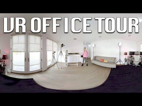 iJustine Office Tour 2016 - VR Video!