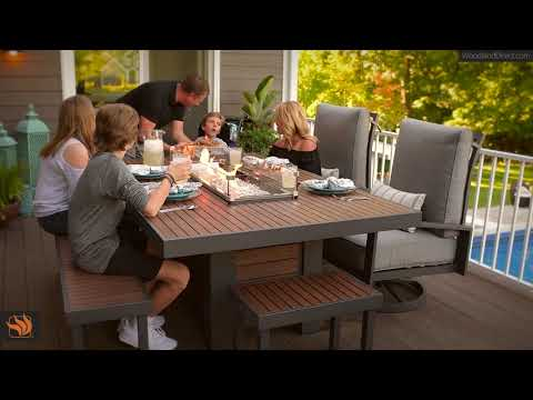 Kenwood Linear Fire Pit Table