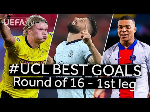 HAALAND GIROUD MBAPPÉ: #UCL BEST GOALS Round of 16 – 1st leg