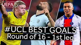 HAALAND, GIROUD, MBAPPÉ: #UCL BEST GOALS, Round of 16 - 1st leg