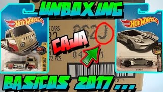 UNBOXING - CAJA/CASE J HOT WHEELS BÁSICOS 2017