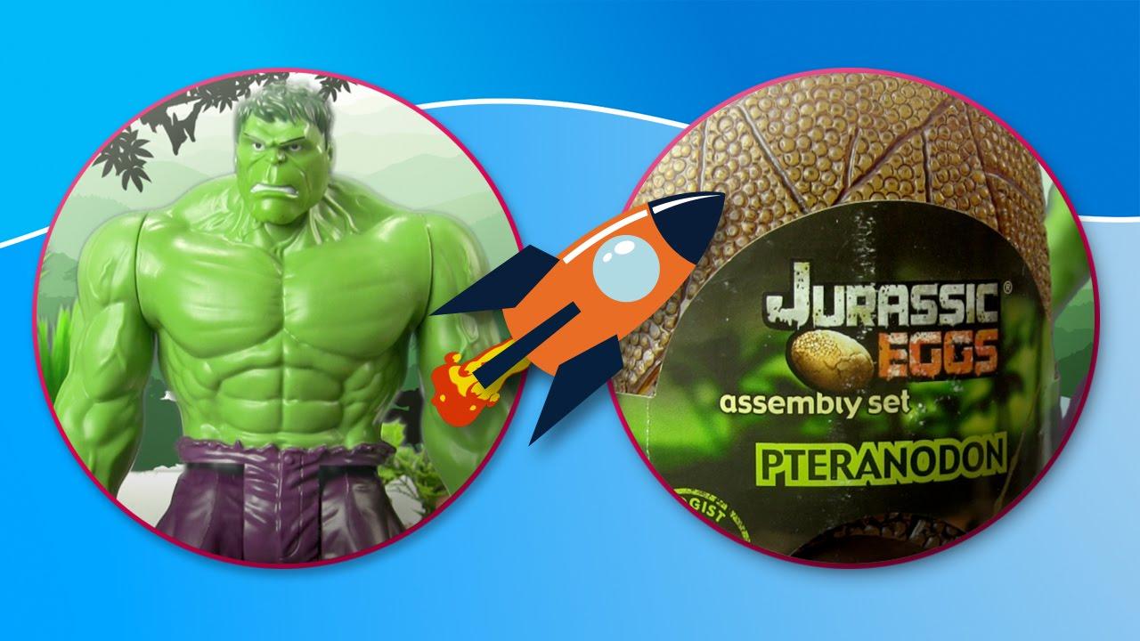 Hulk descubre los huevos sorpresa de Jurassic World