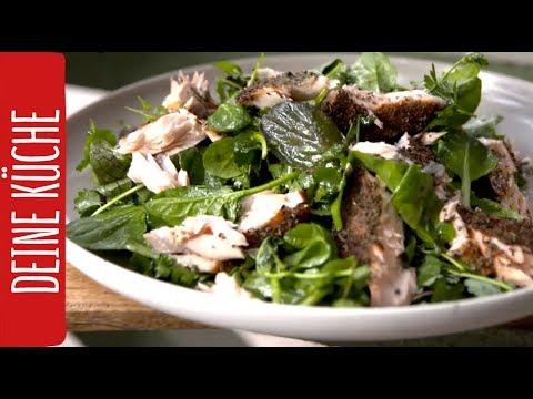Lachs von der Zedernplanke auf frischem Pflücksalat #Grillrezepte | REWE Deine Küche