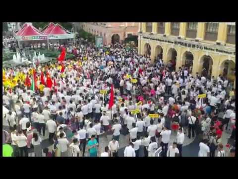 逾百人議事亭前地集會支持中國