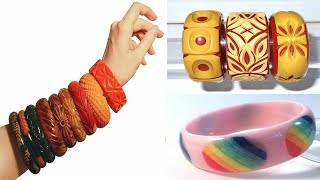 Top 25 Bakelite Bangle Bracelets Collection  || Latest Plastic Bangles || The Fashion Zone