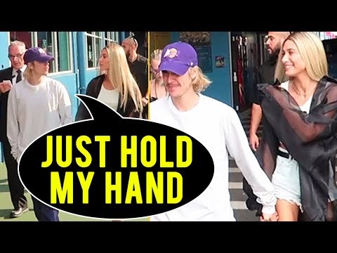Justin Bieber FORCEFULLY HOLDS Hailey Baldwin HAND And It Is Romantic!