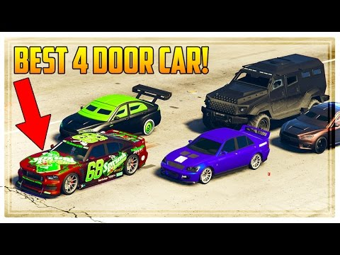 GTA 5 NEW DLC CARS SPEED TEST! WHICH IS THE BEST 4 DOOR CAR?