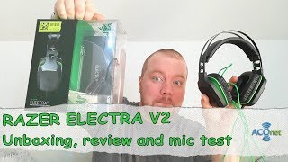 Headset RAZER ELECTRA V2 unboxing, review, microphone test and …