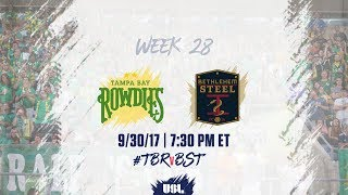 USL LIVE - Tampa Bay Rowdies vs Bethlehem Steel FC 9/30/17