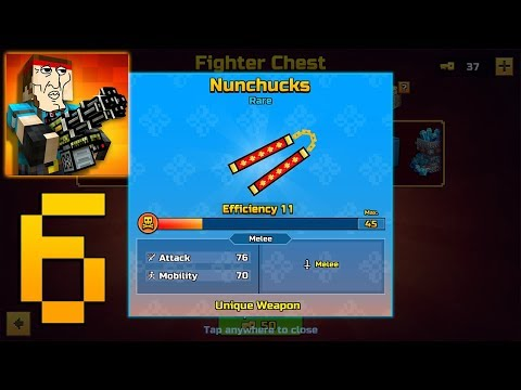 Pixel Gun 3D - Gameplay Walkthrough Part 6 - Nunchuks from chest