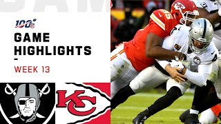 Raiders vs. Chiefs Week 13 Highlights   NFL 2019