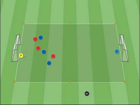 Allenamento aerobico per il calcio: match e corsa fra i coni animazione