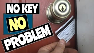 HOW TO OPEN DOOR WITH CREDIT CARD HACK!!!
